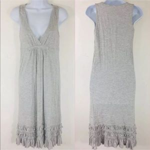 J Crew Womens Dress XS Gray Sleeveless Ruffles MO1